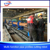 Multi-Function 8 Axis Rectangular Pipe CNC Plasma Oxy Fuel Cutting Beveling Machine