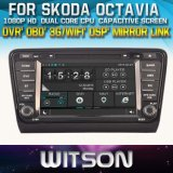 Witson Car DVD Player with GPS for Skoda Octavia 2013-2014 (W2-D8200S) Steering Wheel Control Front DVR Capactive Screen