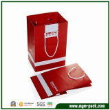 Double Colors Red Rectangle Paper Carrier Bag