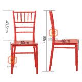 Red modern Banquet PP Resin Chiavari Tiffany Chair Monoblock