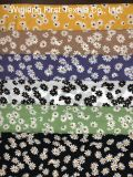 2020 Best Sell Print Little Daisy Polyester Viscose Silk Crepe Fabric Digital Print