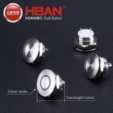 Hban 12mm Mirco-Stroke Metalmini Short Body Push Button Switch LED Illuminated