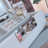 Wooden Jewelry Box Jewellery Set Case Fingerprint Safe Box Storage Box