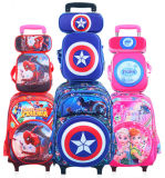 Children′s Trolley School Backpack Cartoon Character Set Bag