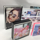 Factory Wholesale Different Sizes Clear Acrylic Block Picture Frame Photo Frame with Magnetic Closure