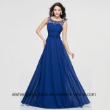 Evening Dresses Party Long Dresses Beaded A-Line Flowers Chiffon Gown