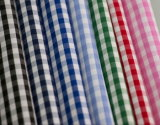 3mm Small Checks Polyester Cotton Yarn Dyed Uniform Shirt Fabric