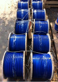 DIN3055/DIN3060 Blue Plastic PVC Coated Galvanized Steel Wire Rope Cable