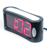 Home LED Digital Alarm Clock with Outlet Powered No Frills Simple Operation Large Night Light Snooze Full Range Brightness Dimmer