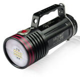 Archon Wg76W 6500 Lumens LED Diving Video Light with Two Different Lights White + Red