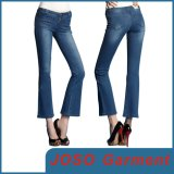 Women Dark Blue Slim Cootcut Cropped Jeans (JC1130)