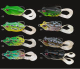 Double Hook with Tail Soft Frog Fishing Frog Fishing Lure