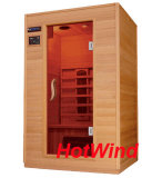 2 Person Indoor Far Infrared Solid Wood Sauna Room