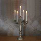 "Wholesale 5 Arm Metal Candelabra Candle Holder Centerpiece, 12"" Sliver"