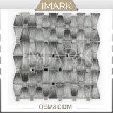 Mirror Metal Mix Trapezoid Glass Mosaic Wall Tile for Kitchen