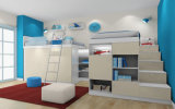 Italian Home Melamine Kids Bed Bedroom Furniture Set (et-009)