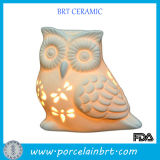 Ceramic Owl Votive Tealight Candle Holder