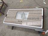 White Wood Marble Vanity Tops for Supermarket