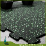 Elatic Good Price No Smell Interlock Rubber Tile for Gym
