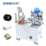 Zonesun Zs-Tb606 Transparent Benchtop Semi Automated Price Packaging and Labeling Sticker Machinery