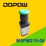 M5pm210-08 Latching Manual Mechanical Valve 2 Position 5 Way