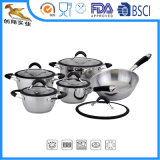 18/10 Stainless Steel Cookware Pots Sets (NIA-1624)