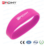 Popular 13.56MHz MIFARE 1K RFID Silicone Wristband for Event