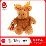 Customized Gift Plush Christmas Decoration Stuffed Animal Soft Reindeer Toy