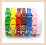 Keezeg Six Colors PP Small Dog Cat Collars for Small Breeds with Bells (KC0135)