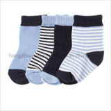 Simple Stripes Breathable Cotton Suit for Baby Sock