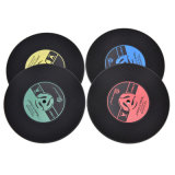 Silicone Printed Pattern Anti-Fade CD Record Drinks Coasters Mats