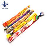 Factory Supply Wedding Gifts Souvenirs Cheap Woven Text Wristband