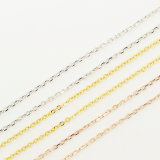 925 Silver Cross Chain Necklace Chain Customized Longth