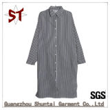 Wholesale Fashion Stripes Polo Collar Long Shirt Dress