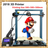 2018 Largest Printing Size 500*500*500mm DIY 3D Printing Machine Desktop Printer