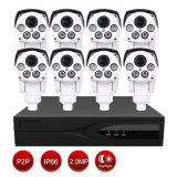 1080P HD IP PTZ Camera Kit for Smart Home- 1 PC 8 Channel NVR+ 8 PCS IP PTZ Camera