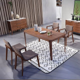 1.6m Small Size MDF Veneer Dining Table /Apartment Furniture