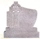 Natural Stone Grey Granite Tombstone Monument SF-015 for Cremetery Garden