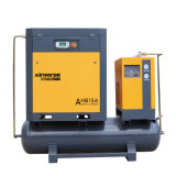 Low Rates 500L Tank and Dryer Mounted Screw Air Compressor 15kw HP Air Compressor