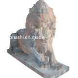 Granite Stone Animal Statue Lion Carving Sculpture for Garden