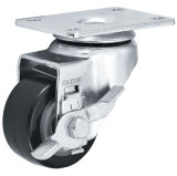 Medium Duty PU Caster (Black) (Flat Surface) (G3203)
