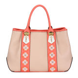 PU Designer Women Flower Decoration Fashion Handbag (MBLX033126)