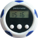 Football Shape Cute Digital Pedometer with Time Function