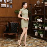 National Restoring Dress Cultivate Cheongsam Dress Fashion Qipao Dress