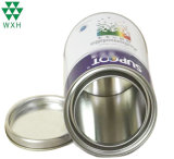 4L Round Printed Logo Metal Tin Can with Re-Sealable Lids