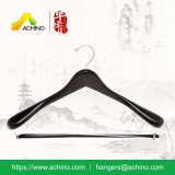 Wide Shoulder Wooden Hangers with Bar (WDS100)