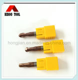 China Manufacturer HRC45 Carbide Ball End Cutter with Tisin Coating