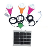 Solar Home Lighting System 3 LED Light Bulb for Home