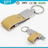 Leather Keychain Embossed Logo USB Flash Drive for Gift (EL-601)