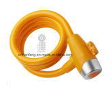 Best Price Bicycle Spiral Cable Lock with Keys (HLK-016)